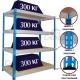 Металлические стеллажи складские МКФ (300 кг на полку)